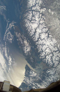 Vancouver Island as seen from space, Lost tunnel of leechtown