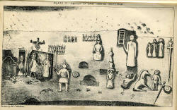 Plate II from Joseph Beldam's book The Origins and Use of the Royston Cave, 1884