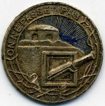 Maginot Line Button or Badge